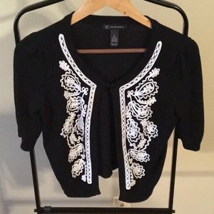 INC Cardigan with beading and embroidery